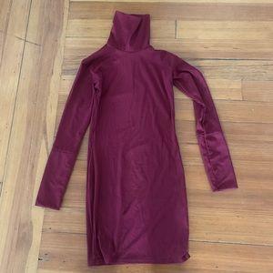 Dresses & Skirts - Mini dress with roll neck rib.